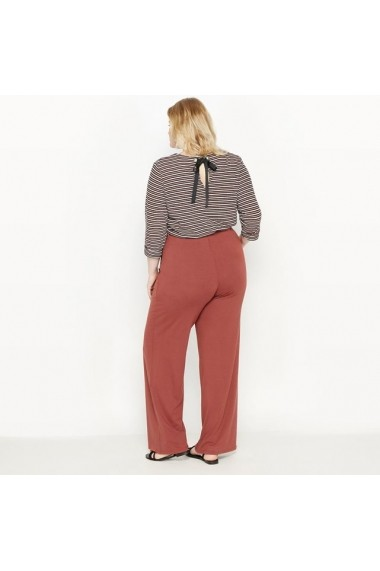 Pantaloni largi CASTALUNA 6421504 Maro-caramiziu - els