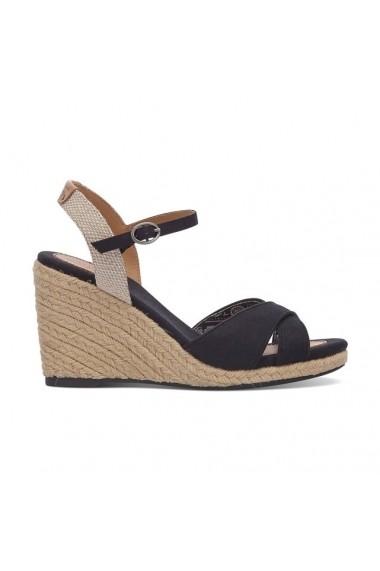 sandale cu toc pepe jeans 7640820 negru fashionup. Black Bedroom Furniture Sets. Home Design Ideas