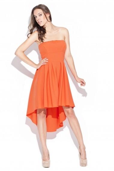 Rochie scurta Katrus k031 orange portocaliu - els