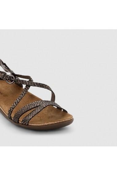 Sandale plate KICKERS C4F-6741652 negru els