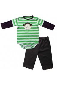 Pijama Green Stripe Monkey pentru baieti Carters MINI2395 multicolor - els