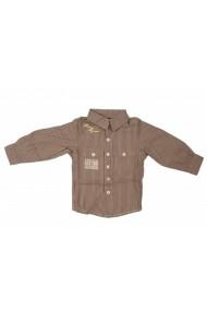 Camasa School Boy Brown pentru baieti SNDSL MINI1911 bej - els