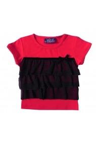 Bluza Elegant Ruffles Red pentru fete Carodel MINI2675 rosu - els