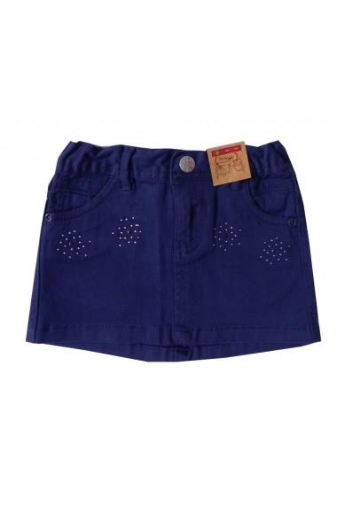 Fusta Jeans Miss Cool Navy pentru fete Carodel MINI2680 bleumarin - els