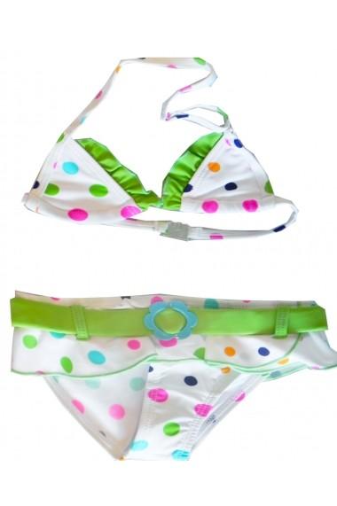 Costum de baie Green Dots pentru fete Carodel MINI2049 multicolor - els