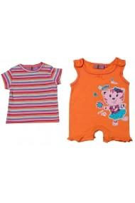 Salopeta Duo Orange Kitty pentru fete Carodel MINI2244 multicolor - els