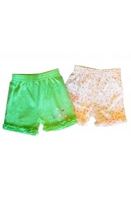 Set Duo Butterfly Shorts Green baby Carodel MINI1980 multicolor - els
