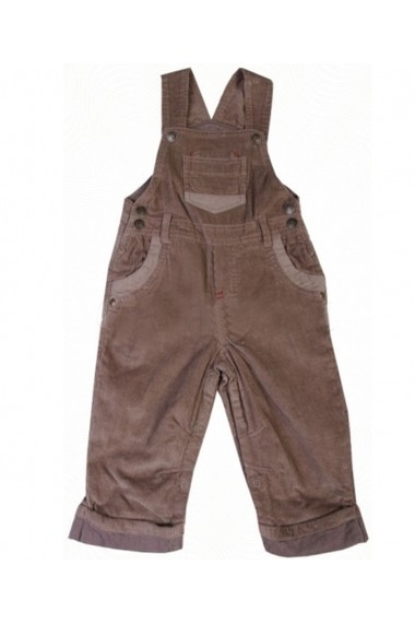 Salopeta Chic Jumpsuit Brown pentru baieti Carodel MINI2870 maro - els