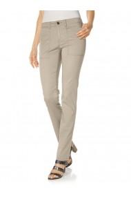 Pantaloni drepti Mandarin 056725 bej - els