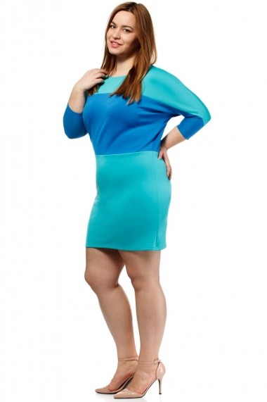 Rochie scurta Large&Lovely by MOE L&L037 green - els