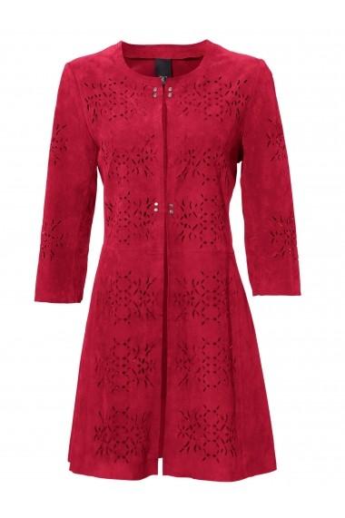 Jacheta din piele heine CASUAL 045631 rosu