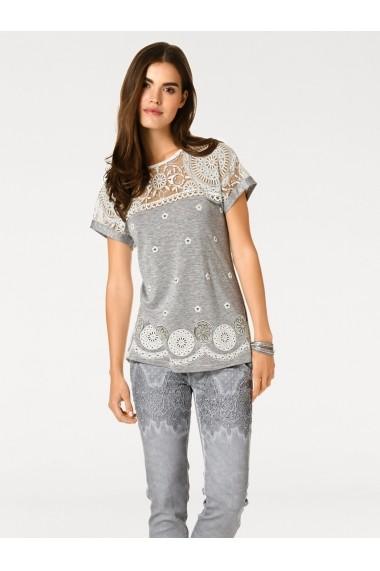 Tricou heine CASUAL 008213 gri