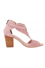 Sandale cu toc XYXYX 027476 roz - els