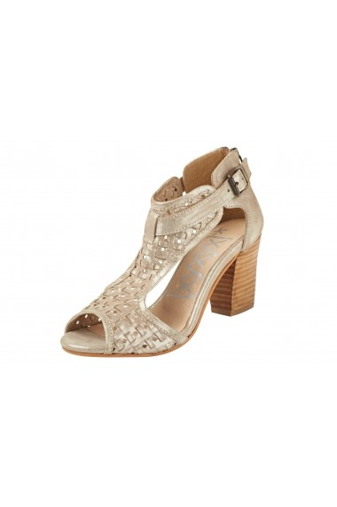 Sandale cu toc XYXYX 071022 auriu