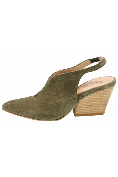 Pantofi Heine 112951 kaki