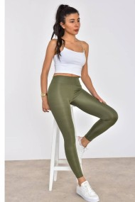 Colanti dama fitness lycra talie inalta elastici Verde forest