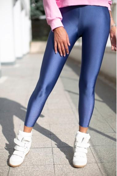 Colanti dama fitness lycra talie inalta elastici Albastru