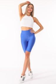 Colanti scurti fitness dama lycra talie inalta elastici Albastru