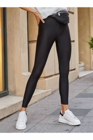 Colanti dama fitness lycra talie inalta elastici Negru lucios