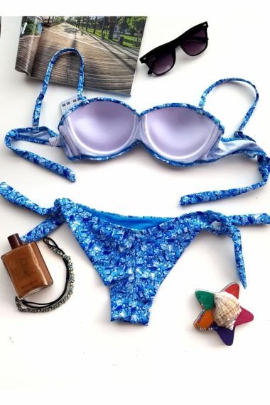 Costum de baie dama 2 piese Embody infinty sutien reglabil slip brazilian Albastru
