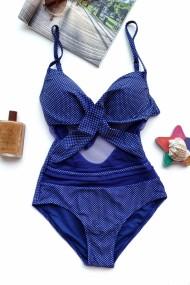 Costum de baie dama intreg sutien reglabil cu push-up Bluemarin