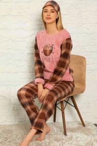 Pijama dama cocolino pufoasa cu imprimeu Love Maro