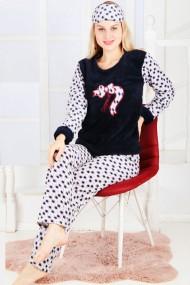 Pijama dama cocolino pufoasa cu imprimeu Leopard