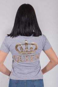 Tricou Queen Gri