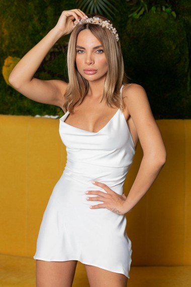Rochie Dama Fabriz Short Alb