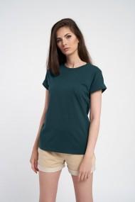 Tricou dama oversize verde din bumbac organic