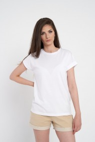 Tricou alb oversize din bumbac organic