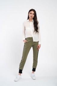 Pantaloni olive cu vipusca