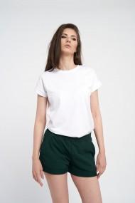 Pantaloni scurti verzi de dama din bumbac