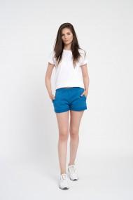 Pantaloni scurti albastri de dama