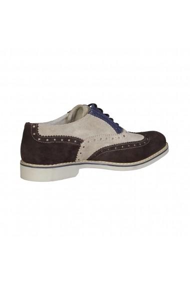 Pantofi Made in Italia FEDRO-MARRONE-DAINO-INDACO Multicolor