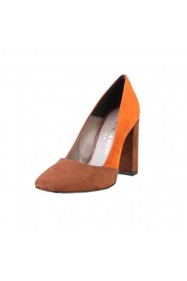 Pantofi cu toc Made in Italia GIADA CUOIO-ZUCCA