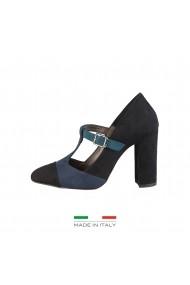 Pantofi cu toc Made in Italia GIORGIA NERO-BLU bleumarin - els