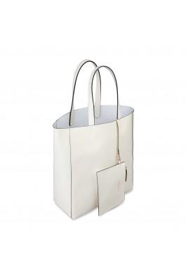 Geanta shopper Made in Italia AMANDA PANNA alb
