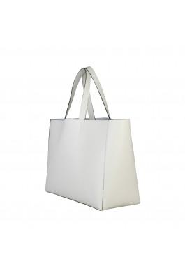 Geanta shopper Made in Italia LUCREZIA PANNA alb