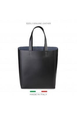 Geanta shopper Made in Italia FOSCA_NERO negru