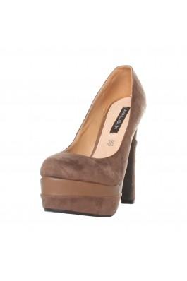 Pantofi cu toc cu toc cu toc Ana Lublin cu toc inalt, kaki- els