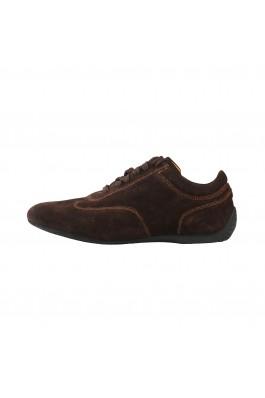 Pantofi sport Sparco IMOLA maro inchis, din piele - els