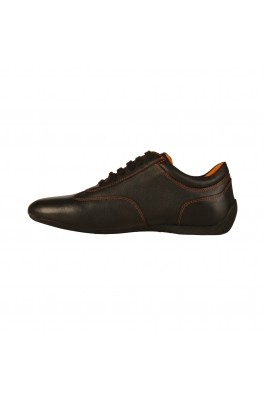 Pantofi sport Sparco IMOLA negri, din piele - els