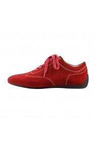 Pantofi sport Sparco IMOLA rosii din piele naturala
