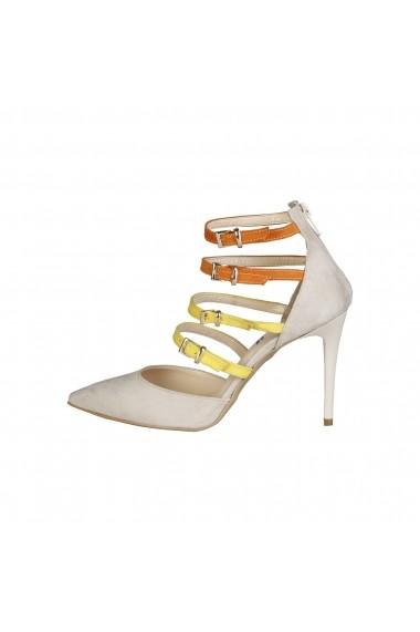Pantofi cu toc Versace 1969 SELINE BEIGE-ARANCIO-GIALLO multicolor