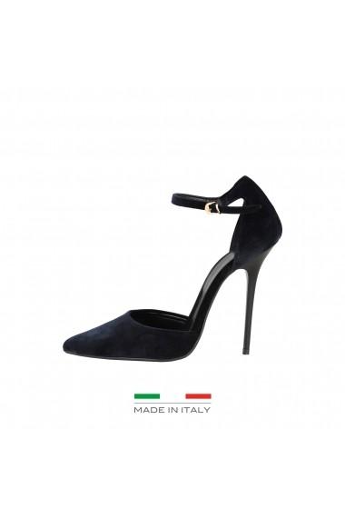 Pantofi cu toc Versace 1969 VIRGIE BLU Bleumarin