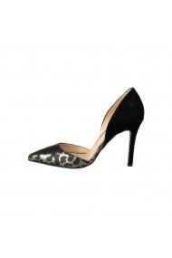 Pantofi cu toc Versace 1969 NAOMI CAMO-LEO-GRIGIO