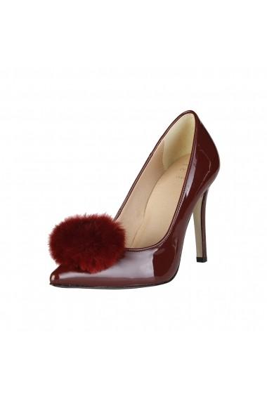Pantofi cu toc Versace 1969 MAEVA bordo