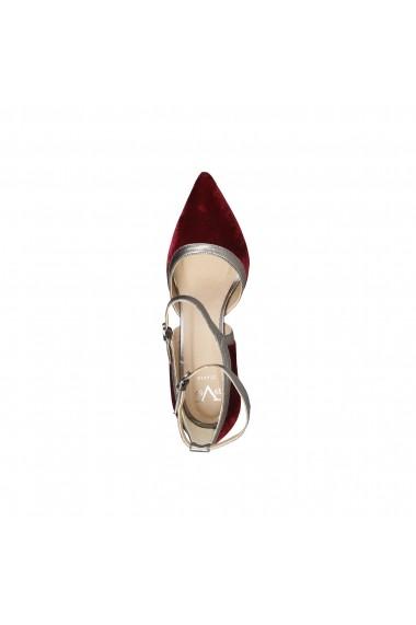 Pantofi cu toc Versace 1969 GENEVIEVE bordo