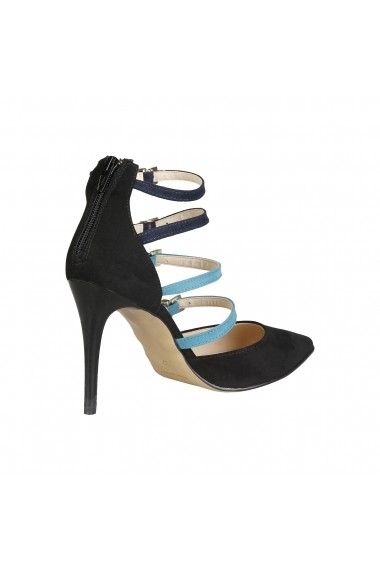 Pantofi cu toc Versace 1969 SELINE NERO-BLU-VERDE multicolor